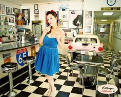 Love for Pin Up - Feature: Debbie Abazia - Professional Model  Creative Designs & MUAH: 2012 Rio.Designs  Photography: Viaggio Images, LLC #loveforpinup Love for Pin Up Ice Cream Parlor, Soda Fountain, Marble Top, Keurig, Good Old, Pin Up, Creative Design, Wireframe, Shopping