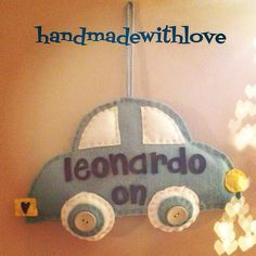 Babyonboard#handmadewithlove #felt#feltcar#leonardo#onoff#lightblue#justforyou#fattoamano#danydan
