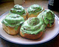 We made this for St. Patrick's Day breakfast - cinnamon rolls! It was fab...and festive!