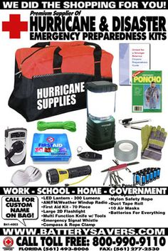 Supplies: Supplies You Need For A Hurricane