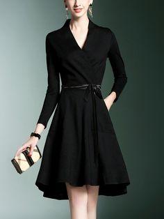 Shop - Black Tie Waist Wrap Mini Dress on Metisu.com. Discover stylish and vogue women's dresses for the season. Regular discounts up to 60% off.