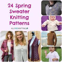 24 Spring Sweater Knitting Patterns