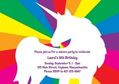 Free Printable Rainbow Birthday Party Invitations is great invitations sample
