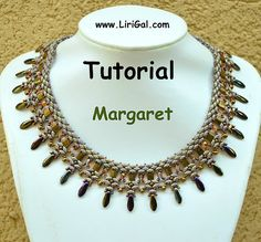 Tutorial Margaret SuperDuo Tila Necklace PDF by Lirigal on Etsy, $11.00