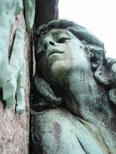Green Lady Bronze Grief Greenwood Cemetery by Brechtbug, via Flickr