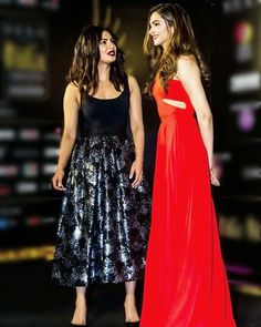 Priyanka Chopra And Deepika Padukone in IFFA Awards 2016