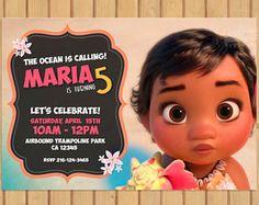 Moana Invitation  Moana Party Invitation  Moana Birthday