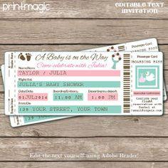 42 best Airplane ticket invitation images on Pinterest | Ticket ...