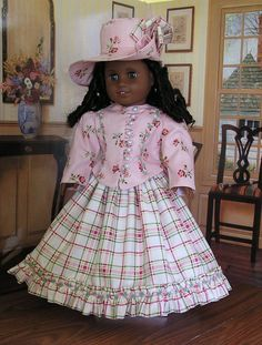 1800's Walking Costume for American Girl Doll. $55.00, via Etsy.