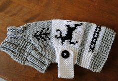 Reindeer Dog Sweater Pattern.