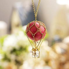 Cute Red Necklace for Girls