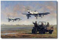Destination Germany by Ronald Wong (P-51 Mustang)