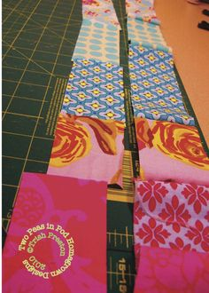 """""""Sew""""ing Seeds with the Two Peas {a patchwork lanyard tutorial} 