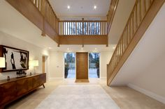 Barn House Conversion, Bungalow Conversion, Barn Conversions, House Staircase, Staircase Design, Staircases, Entrance Halls, House Entrance, House Cladding