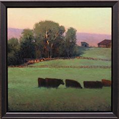 Evening in Likely by Kevin Courter Oil ~ 16 x 16
