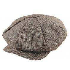 d0ebf6b2ee1 Buy the Jaxon   James Herringbone Big Apple Cap - Brown at Village Hats.  The destination for hats and caps online.