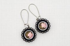 Laser cut acrylic earrings by Black Swan Design