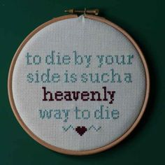 Initially, the cross stitching was just a hobby. | There Is An Etsy Artist Who Cross Stitches Pop Lyrics And They Are So Perfect