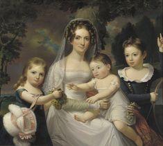 Mrs Elizabeth Wurtz Elder and Her Three Children by Jacob Eichholtz, 1825 US (Philadelphia?), Pennsylvania Academy of the Fine Arts