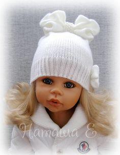 Фотография Baby Hats Knitting, Knitted Hats, Crochet Tote, Little Princess, Winter Hats, Princesses, Cast On Knitting, Crochet Bags, Knit Caps