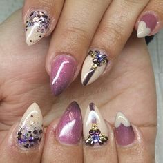 Stiletto nails.
