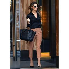 Lily Aldridge   Celine Black Croc Embossed Leather Small Square Phantom  Luggage Tote Bag Fashion Mode 9d6274c4e5