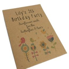 Shop Waystosaythankyou Eco Friendly Birthday Party Bags Personalised No Plastic Bag & Fillers WILDFLOWER. Birthday Favors, 4th Birthday Parties, Birthday Party Favors, 19th Birthday, Birthday Ideas, Personalised Party Bags, Personalized Birthday Banners, Polka Dot Paper, Wildflower Seeds