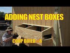 External Nest Box Installation on Mobile Chicken Coop - Homesteading Videos Chicken Boxes, Chicken Nesting Boxes, Nesting Boxes For Chickens, Chicken Ideas, Pet Chickens, Raising Chickens, Chickens Backyard, Chicken Life, Chicken Runs