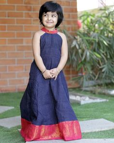 Oxford Maxi Dress Oxford Maxi Dress ,kids Crafted in Madurai cotton, this gown comes with Alter neck detailing and pretty pink border. Related posts:Kids LOVE this fine motor activity! Girls Frock Design, Kids Frocks Design, Baby Frocks Designs, Baby Dress Design, Kids Dress Wear, Kids Gown, Frocks For Girls, Dresses Kids Girl, Cotton Frocks For Kids