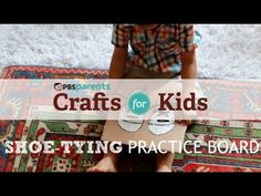 Help little kids learn to tie their shoes with this easy cardboard craft.
