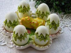 Bajeczna Kuchnia: Jajka faszerowane groszkiem Calzone, Salads, Pizza, Eggs, Breakfast, Recipes, Food, Food Food, Morning Coffee
