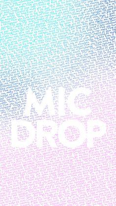 BTS bangtan love yourself her lyrics wallpaper lockscreen kpop mic drop