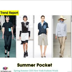 Casual Summer Style: Statement Pockets Trend at NYFW SS 2015.Marc by Marc Jacobs, Antonio Azzuolo, J.Crew, and Karen Walker Spring Summer 2015 New York Fashion Week. #SS15 #NYFW #SS2015