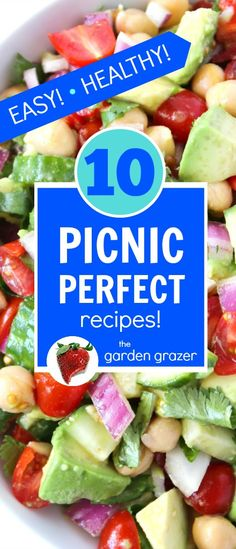 EASY (crowd-pleasing!!) vegan picnic recipes! Perfect for summer get-togethers