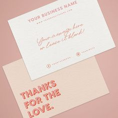Thank you for your order cards Business Stationery Business Id Card Design, Thank You Card Design, Thank You Card Template, Design Design, Print Design, Stationery Business, Stationery Design, Business Branding, Business Card Design