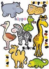 Safari  http://www.barndekor.se/products/wallstickers-djur-ws0253