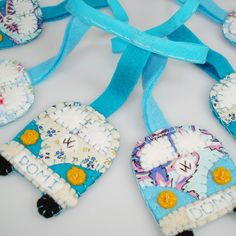 VW Campervan Bunting Garland felt and fabric personalised £20.00