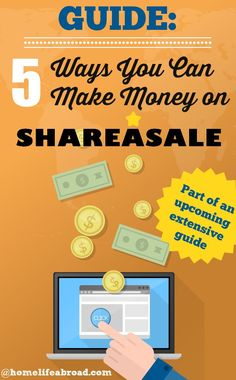 Looking to make money through your blog or site? Check out our guide on 5 ways you can make money on ShareASale! /homelifeabroad/ #ShareASale #blogging #money #monetization