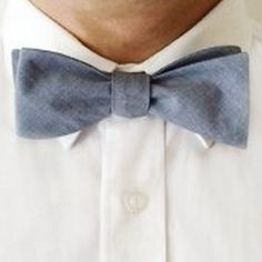 Hipster Chambray Bow Tie from The Grunion Run