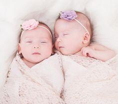 Baby girl twin newborn photography, twins, preemies, Krystal Lou Photography.