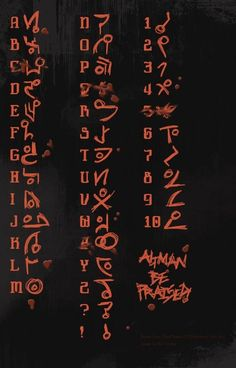 Unitology Alphabet