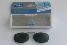 FOSTER GRANT BLACK CLIP-ON SUNGLASSES W/CASE 46 Oval 2 #FosterGrant #ClipOn