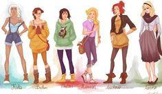 Princesas da Disney ganham visual moderno em trabalho de artista