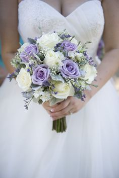 Beautiful flower bouqet.. the colors are right too.. but I like darker purples too..