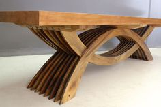 Pierre Cronje's collection of bespoke solid wood dining tables Centre Table Design, Wood Table Design, Dining Table Design, Dining Room Table, Wood Pallet Furniture, Log Furniture, Solid Wood Dining Table, Wooden Tables, Live Edge Table