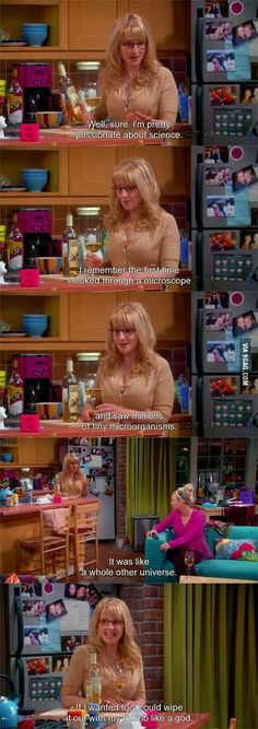 This is the reason why Bernadette is my favourite character from the big bang theory after Sheldon! The Big Bang Therory, The Big Theory, Big Bang Theory Funny, Tv Quotes, Movie Quotes, Funny Quotes, Fandoms, Pinterest Popular, Just For Laughs