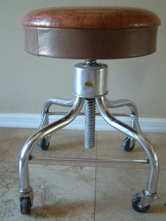 Vintage Pedigo Industrial Rolling Stool Heavy Duty Adjustable & Vintage Lyon Metal Inc. Industrial Shop stool by EurekaVyntageMill ... islam-shia.org
