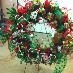 Funky Christmas wreath that I made!