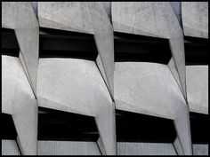 Abstracting Contemporary Architecture. I. Concrete windows (Lyon) by dimitridf, via Flickr