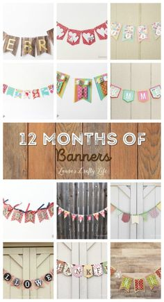 12 Months of Banners. Learn how to easily create 12 months of banners for all the holidays and seasons using the We R Memory Keepers Banner Punch Board. Cricut Banner, Banner Letters, Diy Banner, Bunting Banner, Buntings, Make A Banner, Banner Crafting, Holiday Banner, Fall Banner